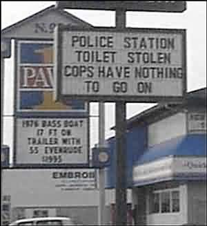 Cops Toilet Stolen!