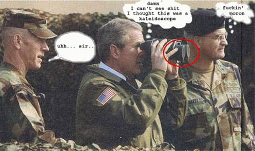 Funny pic of george bush, being an idiot!