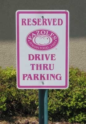 drive through parking, a new concept.