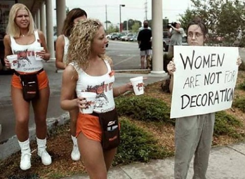 Hooters owns the Protestors