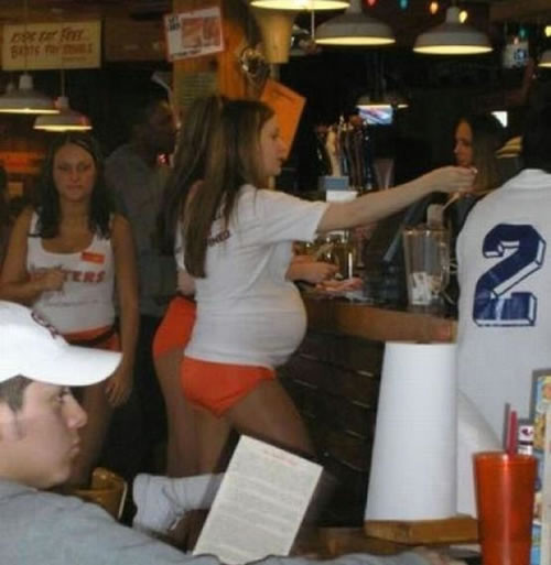 Hooters Girl Knocked Up